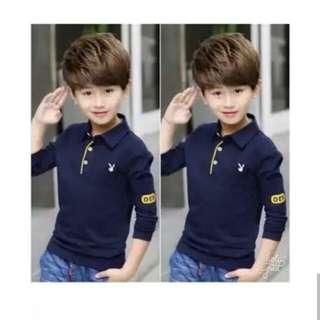 Kids Shirt Cotton Stretch