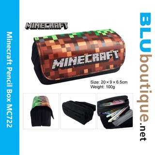Minecraft Pencil box *21 cm x 10 cm x 7 cm MC722 *Ready Stock