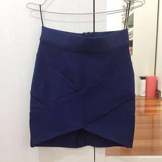 Navy bandage skirt