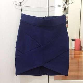 Navy bandage skirt
