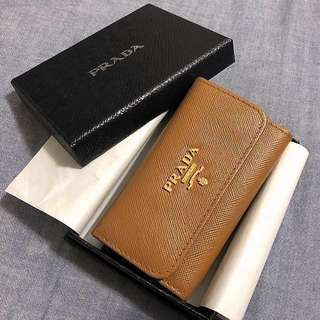 Prada 銀包 鎖匙包 咭片套 Wallet Key Holder in Brown