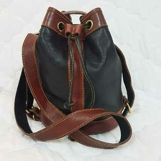 BUCKET GENUINE LEATHER SLING BAG