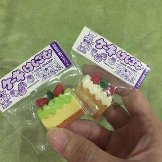 Mini cute cakes erasers