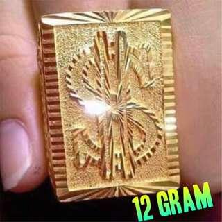 GOLD DOLAR RING 916