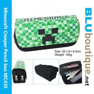 Minecraft Creeper Green Pencil box