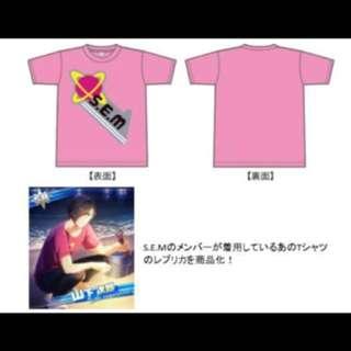 アイドルマスター SideM レプリカTシャツ S.E.M ver  【Size】M碼 / L碼 【素材】綿