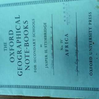 1953 Oxford Geographical Notebook
