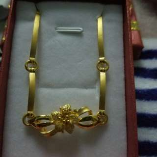 24k real gold On hand bracelet