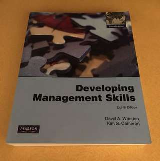 PEARSON: Developing Management Skills (Eighth Edition) David A. Whetted & Kim S. Cameron