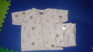 3 baju bayi lengan pendek