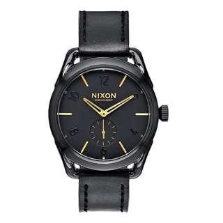 Nixon Swiss Quartz A459010 Black Leather Watch