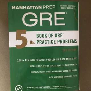 Manhattan Prep GRE Problems Book