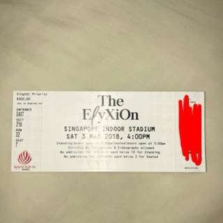 SELLING THIS EXO ELYXION CONCERT TICKET