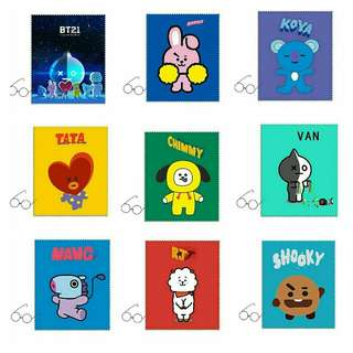 BTS  BT21 SPECTACLE WIPE CLOTH