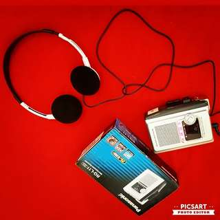 Vintage Panasonic RQ-L11 MINI CASSETTE RECORDER with bulit-in speaker. Also works as Walkman. Does not come with Earphone. Unused & Mint Condition, Brand New Old Stock with Box. Made in Taiwan, plastic body. $48 offer, sms 96337309.