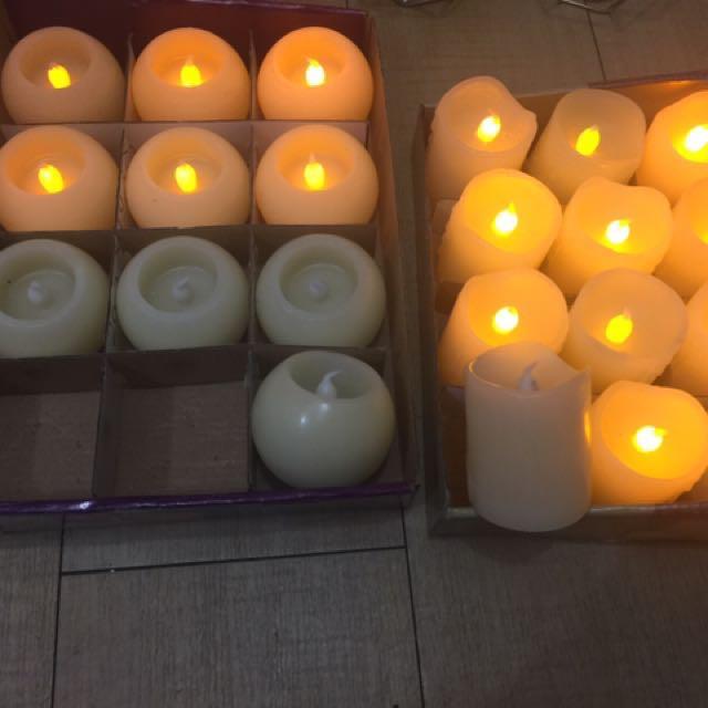 22 pieces artificial candles