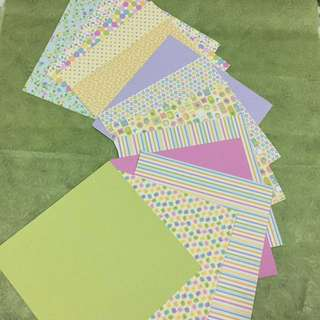 Good quality double sided square craft cards