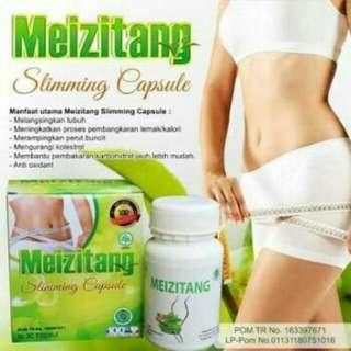 Meizitang Kapsul HARGA TURUN  30 Kapsul pelangsing utk mengurangi lemak n menurunkan berat badan. sdh ber-POM
