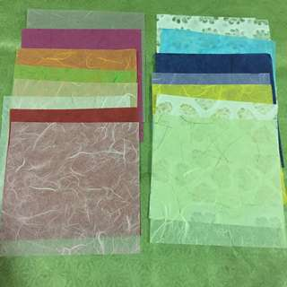 Light thin paper square craft papers