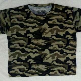 Unisex Army Camouflage T-Shirt, Cotton Soft Expandeble