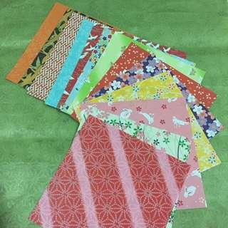 Beautiful Japanese theme origami paper