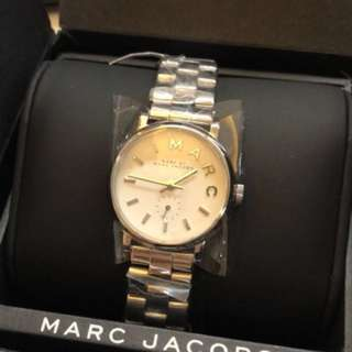 Marc jacobs 全新 銀色鋼帶錶