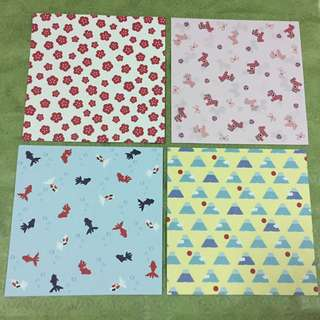 Beautiful Japanese theme origami papers