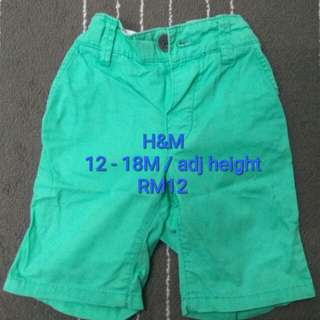 H&M short pants, 12 - 18M (Preloved)