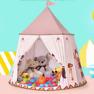 Indoor/Outdoor Brown Castle Tent
