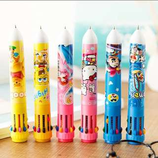[PO] Cartoon Character Multicolour Ball point pens