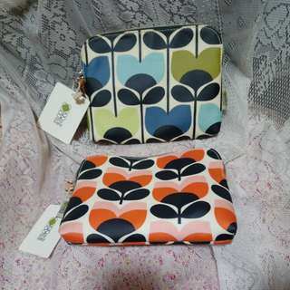 英國 Orla Kiely cosmetic bag @$99 (原價€20) Green colour  ( Peach colour  - sold out  )