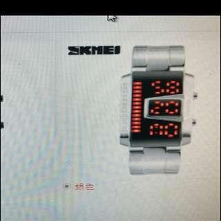 🚚 SKMEl電子錶,買錶送戒指