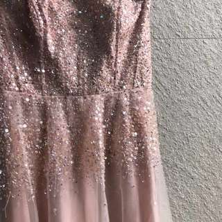 Pastel pink prom dress, formal gown