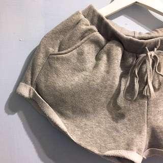 🚚 正韓純棉溫暖舒適刷毛休閒運動短褲
