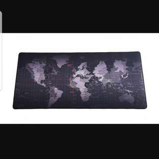Large world map mouse pad table mat