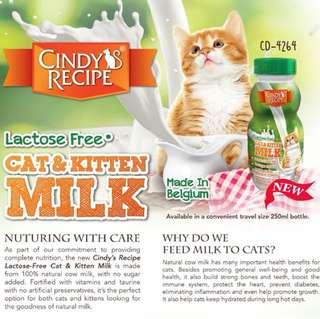Cindy's Recipe Cat & Kitten Milk 250ml - $3.90 / 4 for $9.90