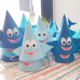 shark kids party hat
