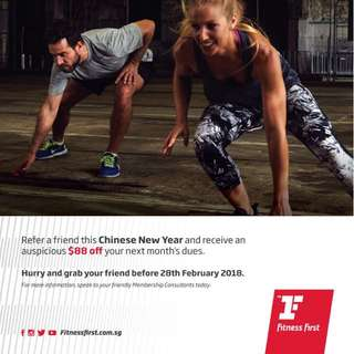 Fitness First Member Referral Promotion