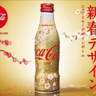 日本 可口可樂 2018 新春 限定 鋁樽 1支