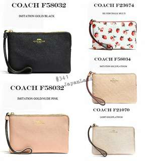 #341 Coach Pouch Accessory Case Leather