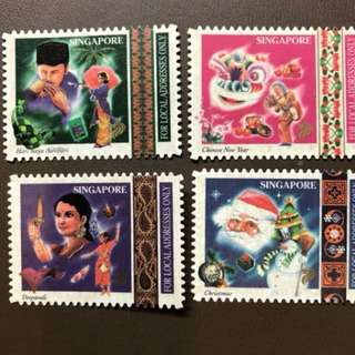Clearing at Face Value: Singapore Festival Stamps Set of 4, Mint Not Hinged