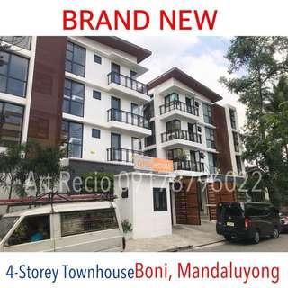 Brand New 4-Storey Townhouse near Boni, Mandaluyong