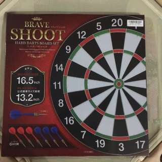 Hard Darts Board Set with 6 pieces of Darts (Original from Japan)