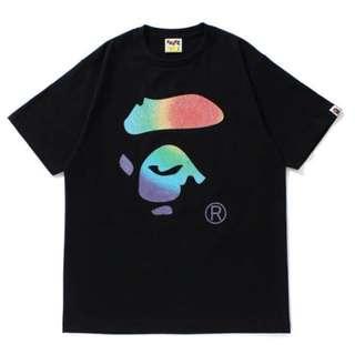 f9dacdf263c231 A Bathing Ape Tee (Glass Beads Rainbow)(NEW)
