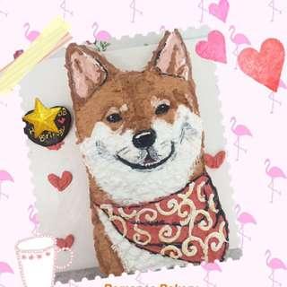 柴犬 狗仔 卡通蛋糕 立體蛋糕 生日蛋糕