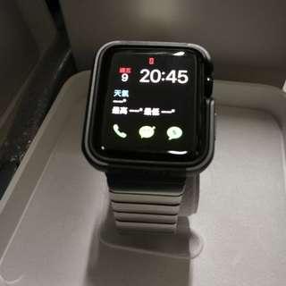 Apple watch S2 42mm 原裝不绣鋼带 有AppleCare19年3月