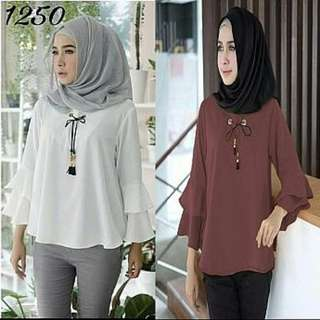 Misya blouse pth maroon Rp72.000 Twiscone fit L. Redi jkt