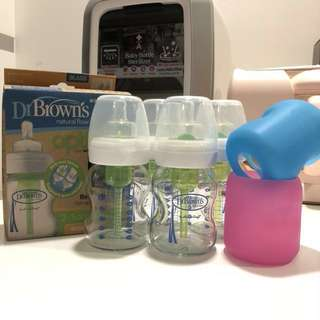 Dr Brown's Wide Neck Milk Bottles and Sleeves