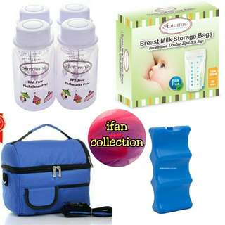 🎁 free shipping 🎁 Autumnz - Complete Set Bottle Storage & Cooler Bag include Ice Brick