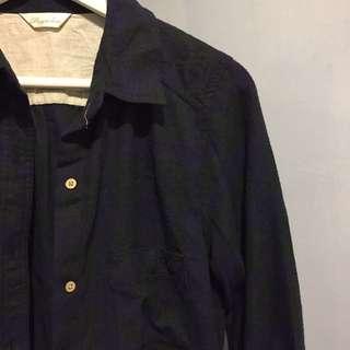 🚚 長版經典藍綠格紋襯衫